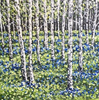 Bluebells and Birch