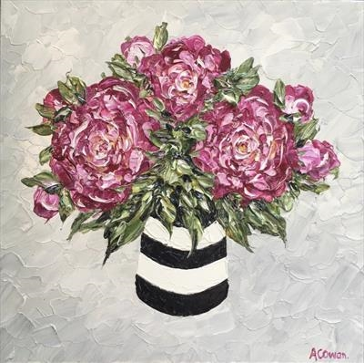 Peonies with Black Stripes