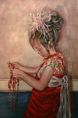 All Tangled UP by Alison Cowan, Painting, Acrylic on canvas