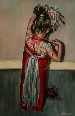 All dressed Up by Alison Cowan, Painting, Acrylic on canvas