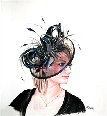 Angie - Posh Hat by Alison Cowan, Painting, Acrylic on canvas