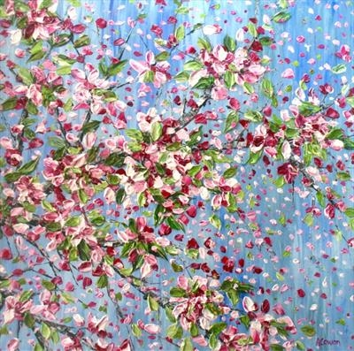 Apple Blossom by Alison Cowan, Painting, Acrylic on canvas