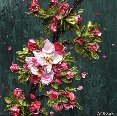 Apple Blossom Branch by Alison Cowan, Painting, Acrylic on canvas