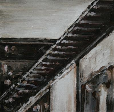 Ascending - Building Detail by Alison Cowan, Painting, Acrylic on canvas