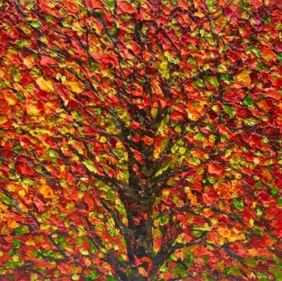 Autumn Burst by Alison Cowan, Painting, Acrylic on canvas