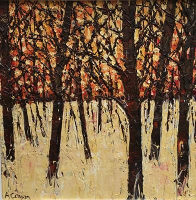 Autumn Glow by Alison Cowan, Painting, Acrylic on canvas