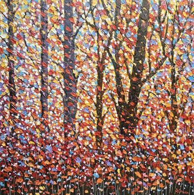 Autumn Kaleidoscope by Alison Cowan, Painting, Acrylic on canvas