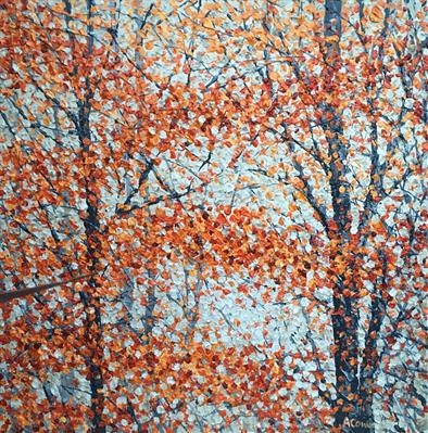 Autumn Lights by Alison Cowan, Painting, Acrylic on canvas