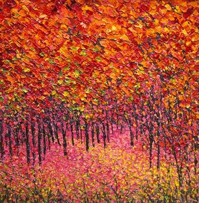 Autumn Majesty by Alison Cowan, Painting, Acrylic on canvas