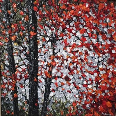 Autumn Mist by Alison Cowan, Painting, Acrylic on canvas