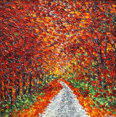 Autumn Ramble by Alison Cowan, Painting, Acrylic on canvas