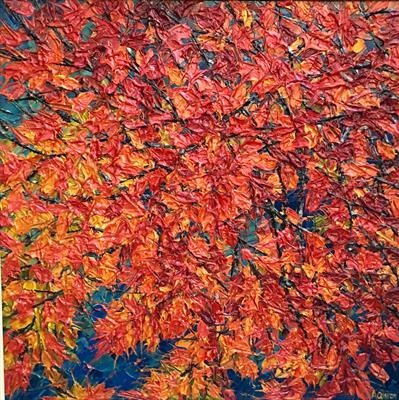 Autumn Regalia by Alison Cowan, Painting, Acrylic on canvas