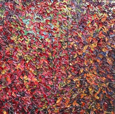 Autumnal Tapestry by Alison Cowan, Painting, Acrylic on canvas