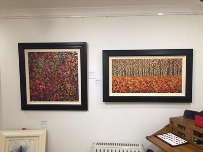 Autumnal Tapestry & Vista by Alison Cowan, Painting