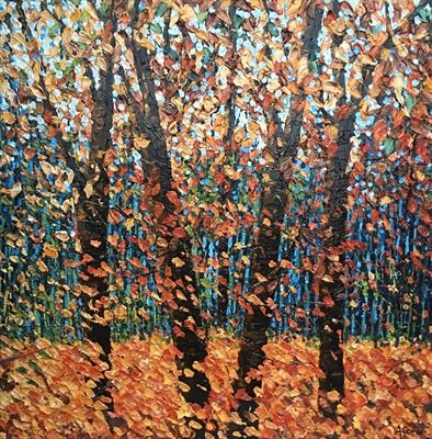 Autumnal flush by Alison Cowan, Painting, Acrylic on canvas