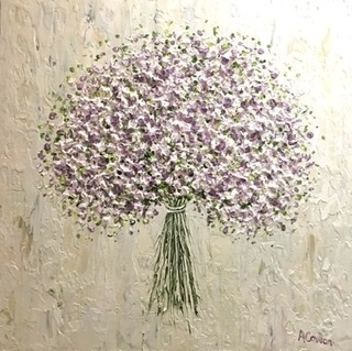 Baby's Breath by Alison Cowan, Painting, Acrylic on canvas