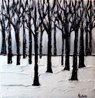 Bare Branches by Alison Cowan, Painting, Acrylic on canvas