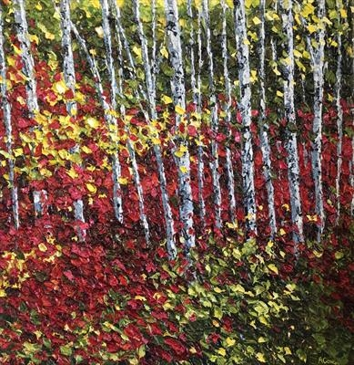 Birch Grove by Alison Cowan, Painting, Acrylic on canvas