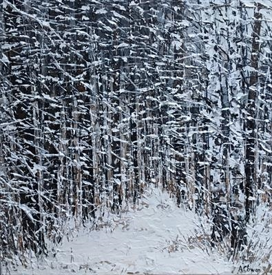 Blanket of Snow by Alison Cowan, Painting, Acrylic on canvas
