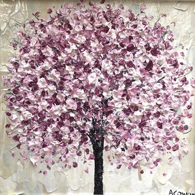 Blossom Blush by Alison Cowan, Painting, Acrylic on canvas