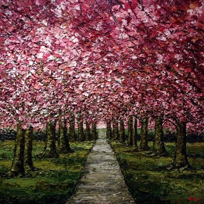 Blossom Canopy by Alison Cowan, Painting, Acrylic on canvas