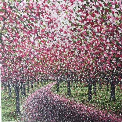 Blossom Path by Alison Cowan, Painting, Acrylic on canvas