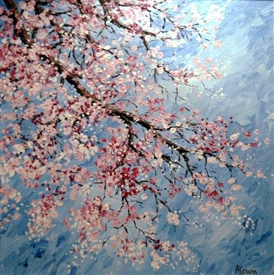 Blossom Whisper by Alison Cowan, Painting, Acrylic on canvas