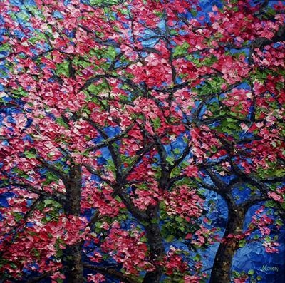 Blossom and Branches by Alison Cowan, Painting, Acrylic on canvas
