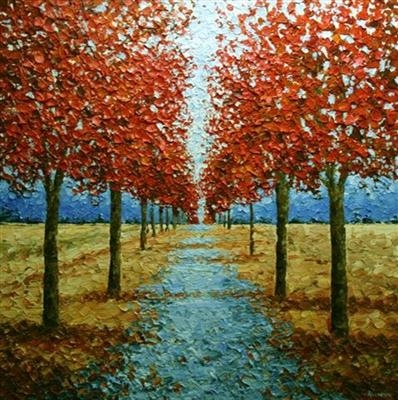Blue Path by Alison Cowan, Painting, Acrylic on canvas