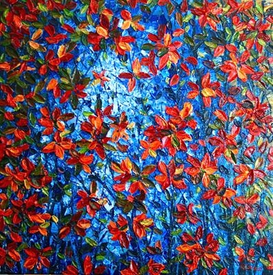 Blue Shining Through by Alison Cowan, Painting, Acrylic on canvas