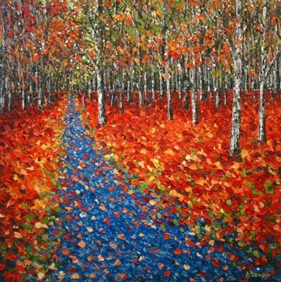 Blue Trail by Alison Cowan, Painting, Acrylic on canvas