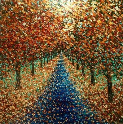 Boulevard by Alison Cowan, Painting, Acrylic on canvas