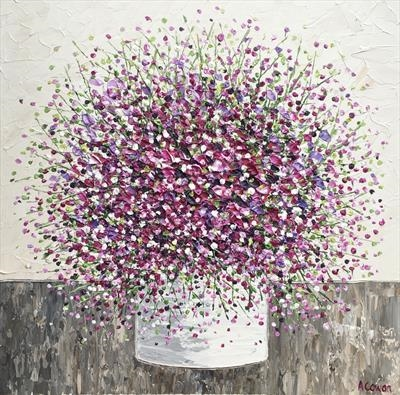 Bouquet Fizz by Alison Cowan, Painting, Acrylic on canvas