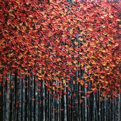 Burnished Canopy by Alison Cowan, Painting, Acrylic on canvas