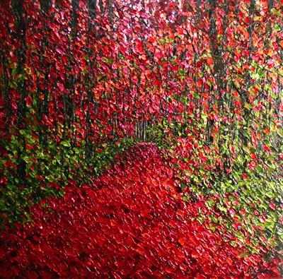 Cherry Glow by Alison Cowan, Painting, Acrylic on canvas