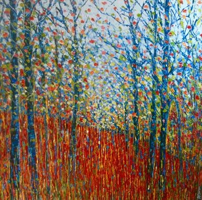Coppice by Alison Cowan, Painting, Acrylic on canvas