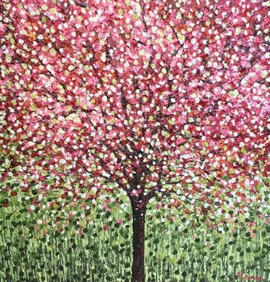 Crabapple Blossom by Alison Cowan, Painting, Acrylic on canvas