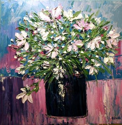 Crazy Daisies by Alison Cowan, Painting, Acrylic on canvas