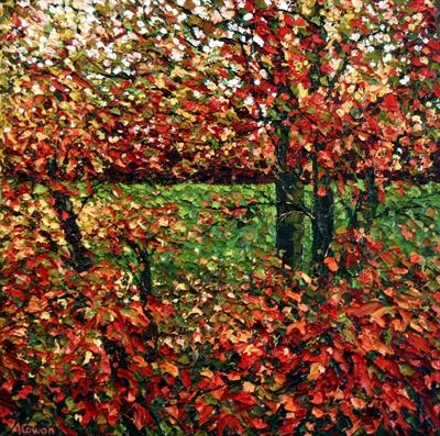 Dappled Maple by Alison Cowan, Painting, Acrylic on canvas