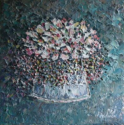 Elderberry Confetti by Alison Cowan, Painting, Acrylic on canvas