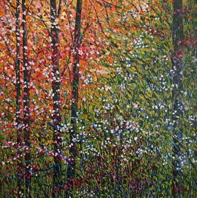 Enchanted by Alison Cowan, Painting, Acrylic on canvas