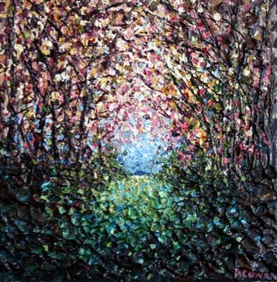 Fairy Lights by Alison Cowan, Painting, Acrylic on canvas