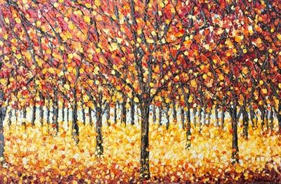 Fall Foliage by Alison Cowan, Painting, Acrylic on canvas