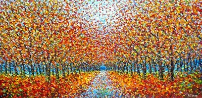 Fall Pastiche by Alison Cowan, Painting, Acrylic on canvas