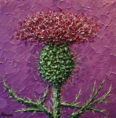 Flower of Scotland by Alison Cowan, Painting, Acrylic on canvas