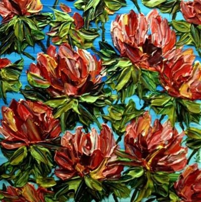 Full Bloom by Alison Cowan, Painting, Acrylic on canvas