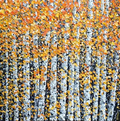 Golden Shower by Alison Cowan, Painting, Acrylic on canvas