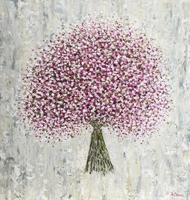 Gypsophila Bouquet by Alison Cowan, Painting, Acrylic on canvas
