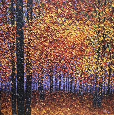 In Awe of Autumn by Alison Cowan, Painting, Acrylic on canvas