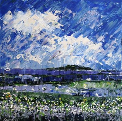 Lavender Hills by Alison Cowan, Painting, Acrylic on canvas
